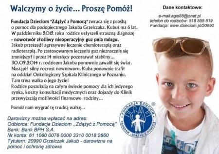Kubuś walczy z nowotworem mózgu G... (kubusgrzelczak), Poznań